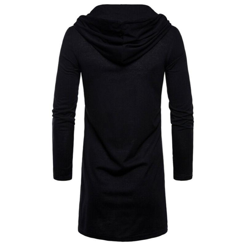 NEW Mens Hooded Trench Coat Cardigan Long Outwear Blouse USA