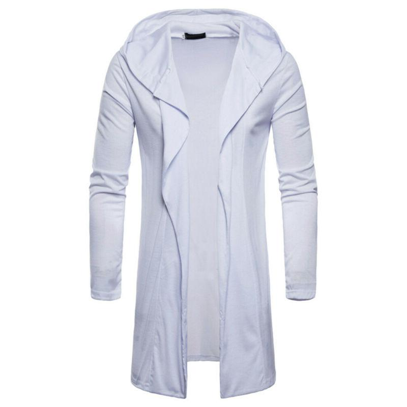 NEW Mens Hooded Fall Trench Coat Jacket Long Sleeve Outwear Blouse USA