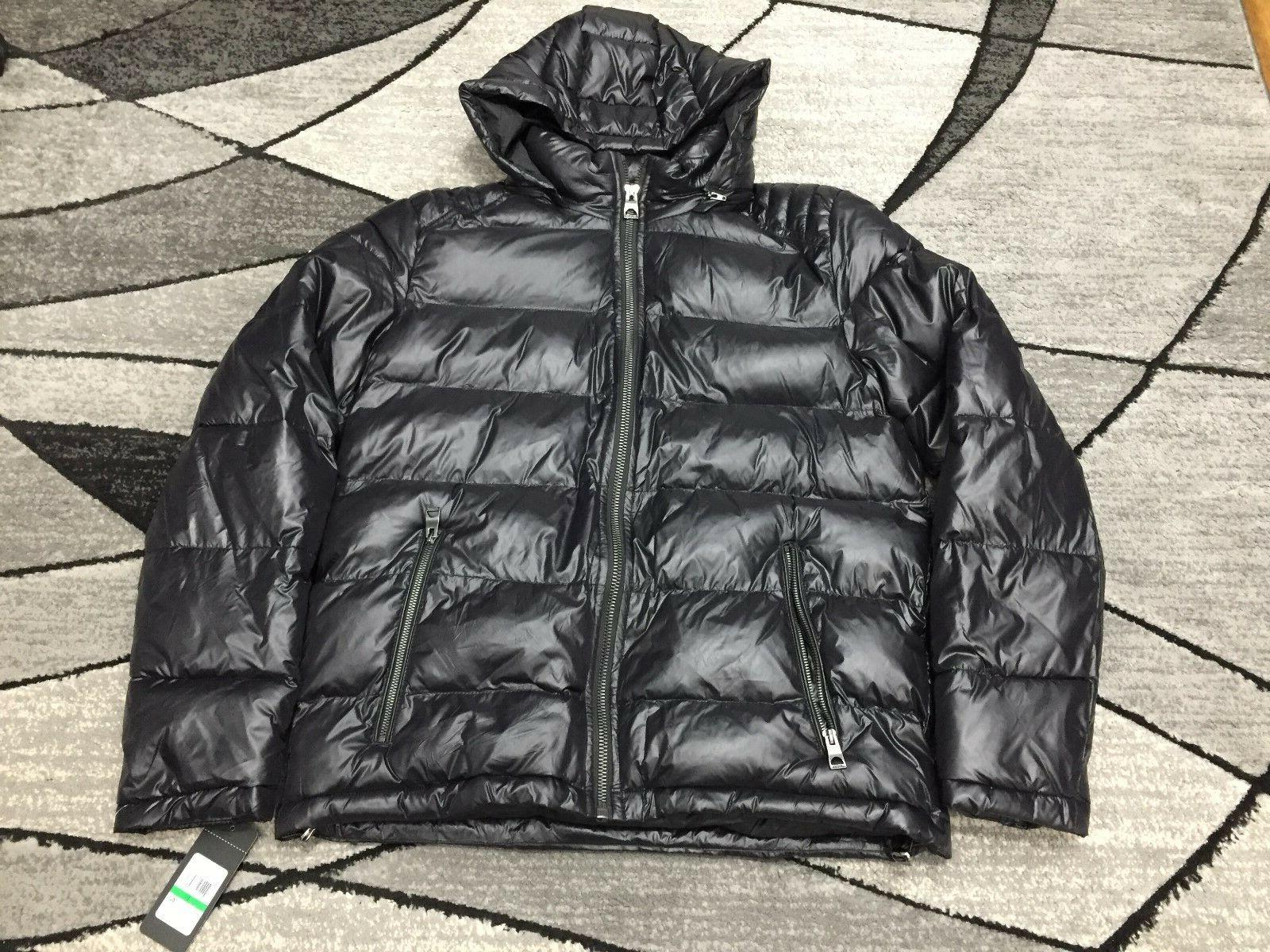 new mens midweight hooded puffer jacket size