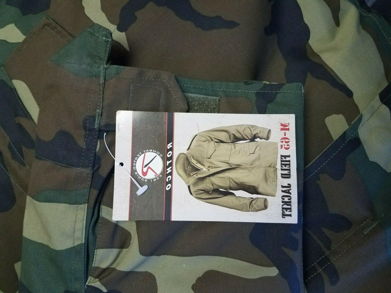NEW MENS MILITARY ROTHCO FIELD JACKET WITH DETACHABLE