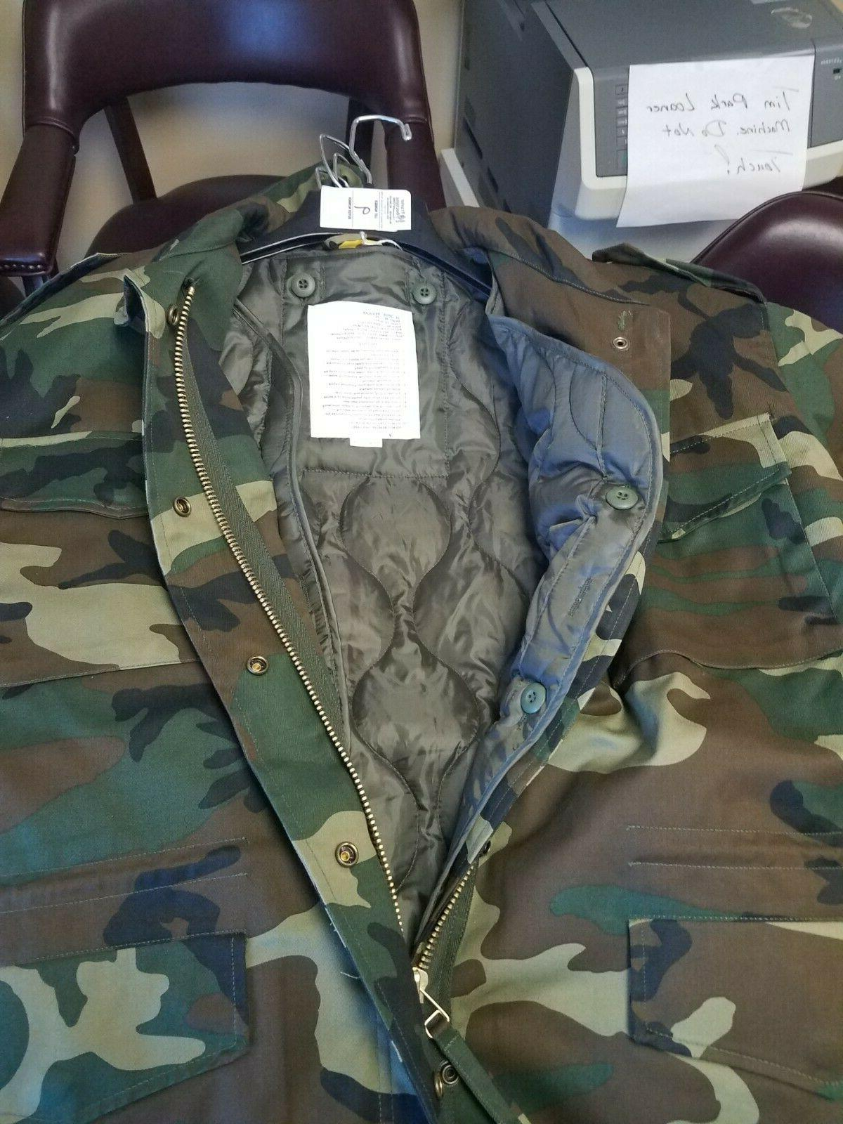 NEW MENS M-65 ROTHCO JACKET WITH DETACHABLE LINER