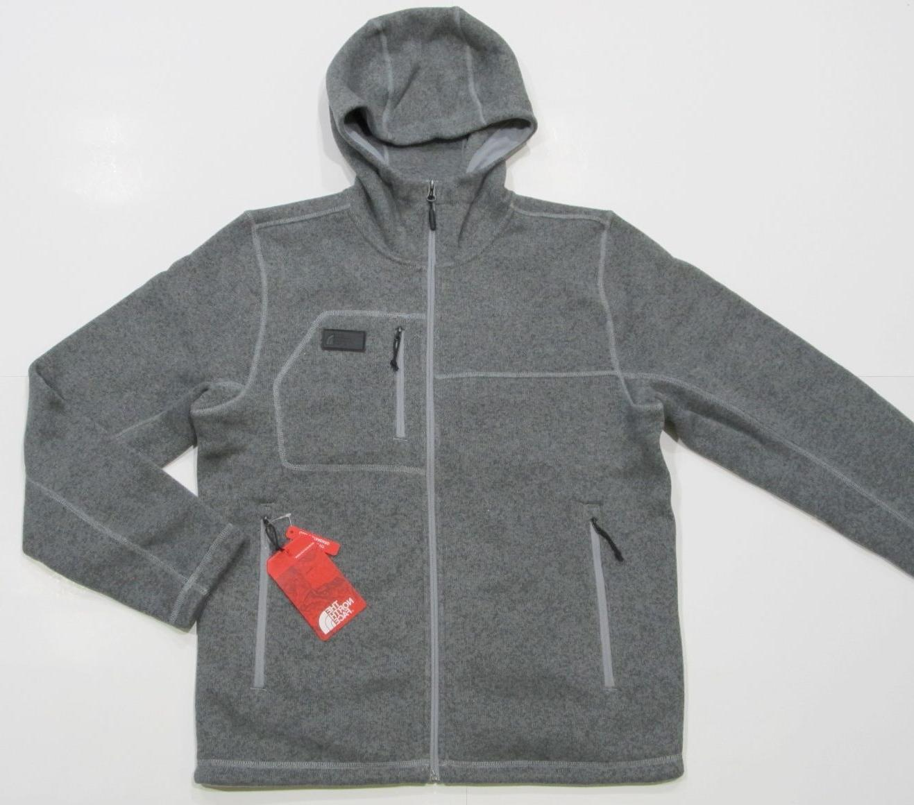 New tag Mens The North Face Grey Gordon Lyons Knit Fleece Ho