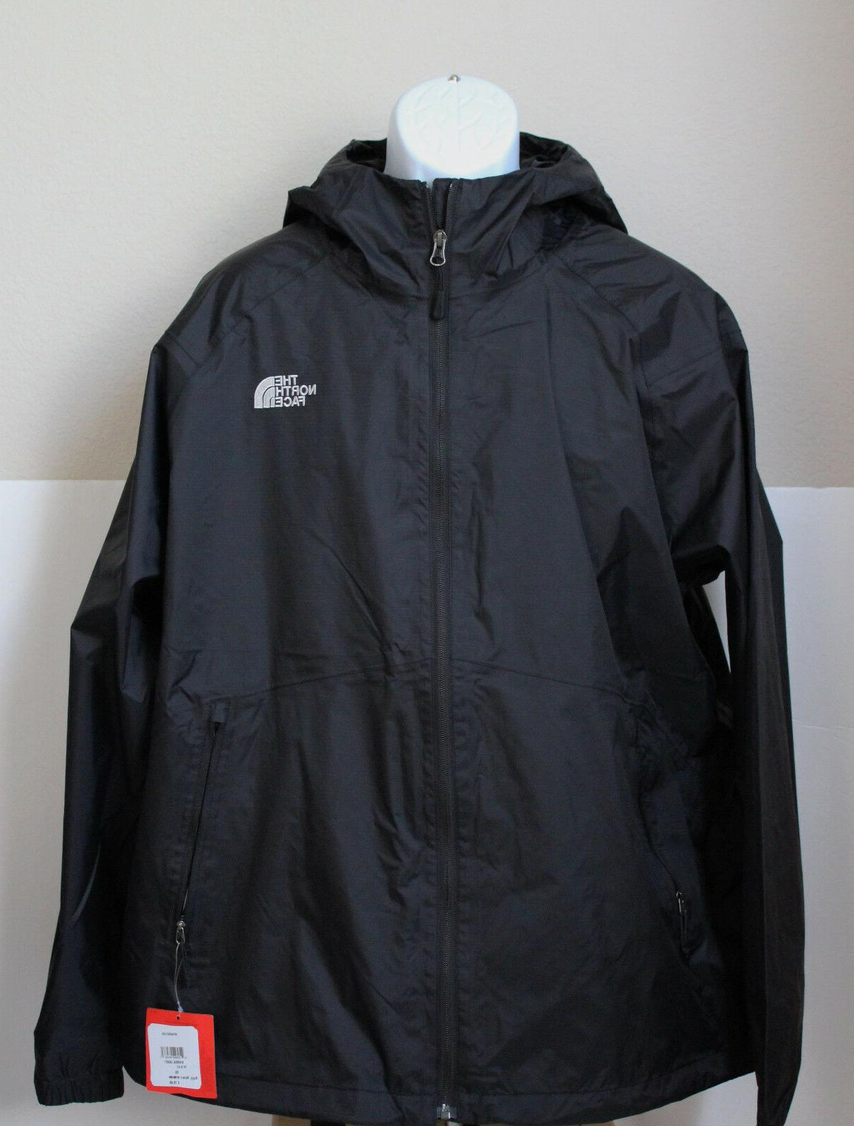 NWT The North Face Men's Boreal Rain Jacket Water Proof Blac