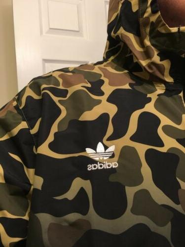 ADIDAS OG 2XL WINDBREAKER FULL ZIP JACKET