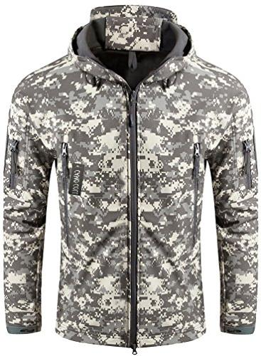 outerwear camouflage hoodie military jacket