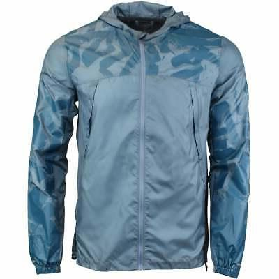 packable jacket athletic outerwear blue mens
