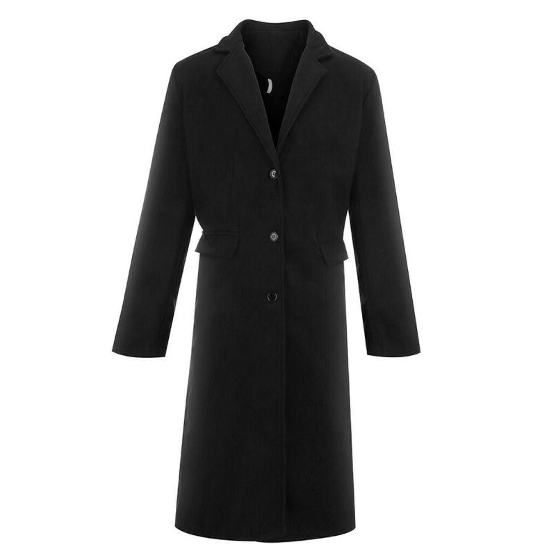 US Fashion Warm Trench Coat Outwear