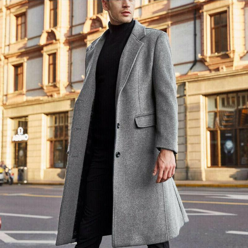 US Fashion Warm Overcoat Trench Jacket