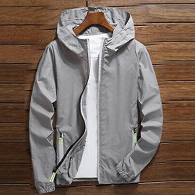 US Men Windbreaker ZIPPER Light Sports Outwear Coat