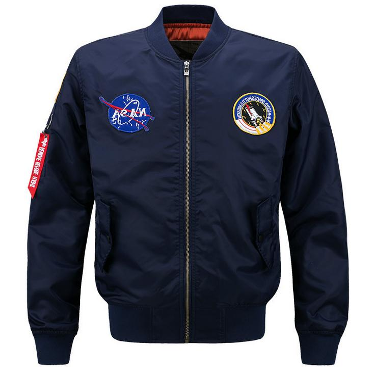 2019 Fanshion US MENS JACKET EMBROIDERED NASA MILITARY ARMY