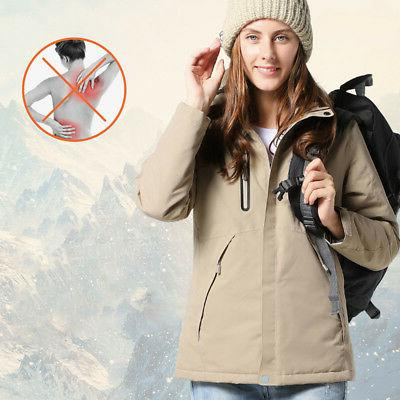 USB Hunting Vest Heated Jacket Coat Winter Clothes Men US