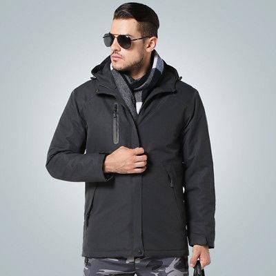 USB Heated Heating Coat Winter Clothes Men US