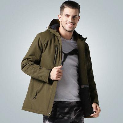 USB Hunting Heated Heating Coat Winter Men US