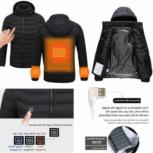 USB Heated Jacket Clothes Men Thermal OP