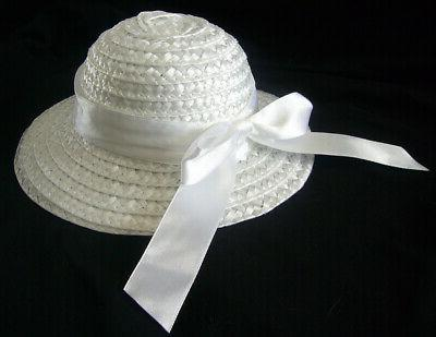 white straw hat for bitty baby accessory