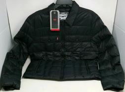 Levis Mens Packable Trucker Jacket Polymaid Quilted Black Si