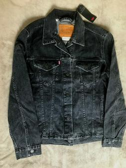 Levis Premium Trucker Jean Jacket Faded Black Mens Size M NE
