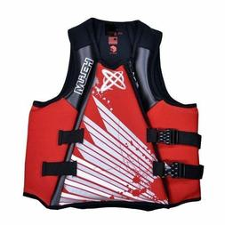 Life Jacket Vest PFD Neoprene Helium Mens Type III Red Mediu