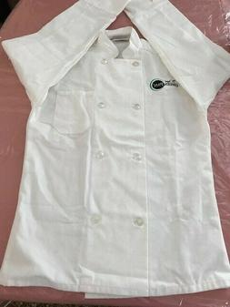 Lot of 3 Brand New Unisex White 8-Button Chef Coat Jacket Lo