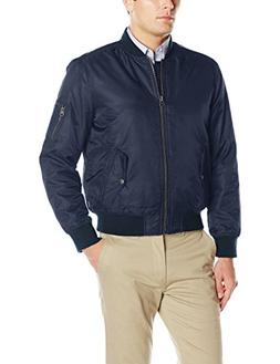 Levi's Men's Ma-1 Flight Jacket, Navy, Large