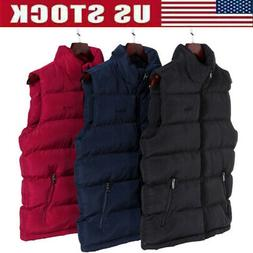Men Down Quilted Vest Body Warmer Sleeveless Padded Jacket C