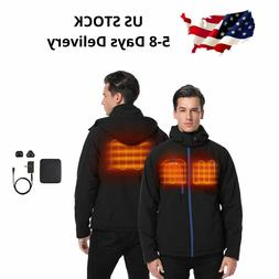 ORORO Men Heated Jacket Winter Heat Coat Battery Winter Outd