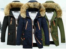 Men Parka Casual Fashion Mens Winter Jackets Stand Collar Ho