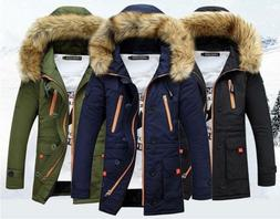 Men Parka New Casual Fashion Mens Winter Jackets Stand Colla