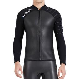 Men's 3mm Wetsuit Jacket Top Long Sleeve Neoprene Wet Suit S