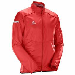 Salomon Men's Agile Wind Jacket - Red, Size Large