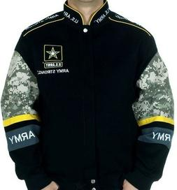 Men's Army Strong Jacket US Army Black Camo Embroidered Logo