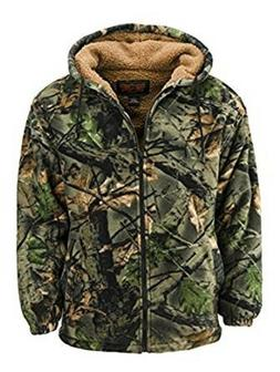 Men's Camo Thurmond Sherpa Lined Hooded Jacket - TrailCrest