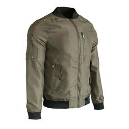 Men's Casual Zip up Quilted Bomber Jacket Flight Outdoor Coa