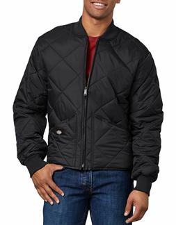 DICKIES MEN'S DIAMOND QUILTED NYLON JACKET BLACK 61242BK
