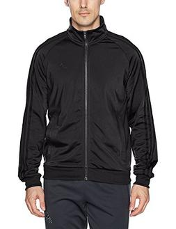 adidas Men's Essentials 3-Stripe Tricot Track Jacket, Black/