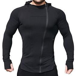 EVERWORTH Men's Fitness Workout Long Sleeve Hoodie Active Mu