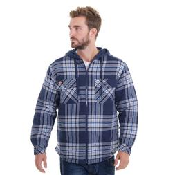 Dickies® Men's Flannel Hooded Shirt Jackets XL Black/Navy/G