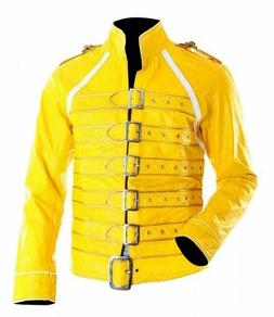 Men's Freddie Mercury Concert Queen Yellow Faux Leather Stra