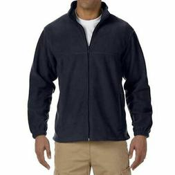 Men's Full Zip Fleece Jacket in Navy - 4XL