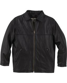 North End Men's Genuine Leather Mid Length Jacket 88076 Size