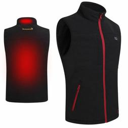 Men's Heating Vest Coat USB Electric Pad Winter Jacket Heate