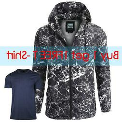 Beautiful Giant Men's Hooded Lightweight Windbreaker Full Zi