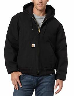 Carhartt Men's J140 Quilted-Flannel-Lined Hooded Duck Active