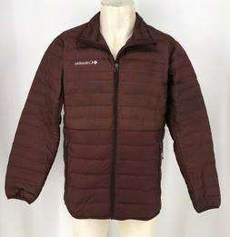 COLUMBIA- MEN'S LARGE - MAROON FULL ZIP 650 DOWN & FEATHERS