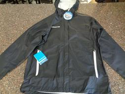 Columbia Men's Medium Waterproof Rain Jacket Black Gable Pas