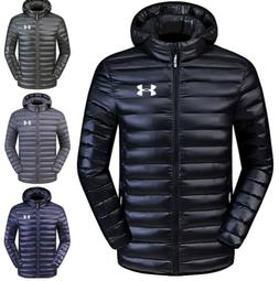 Men's New Under Armour Down Jacket Winter Thick Coat Hooded