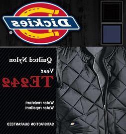 Dickies Men's Nylon Vest Jacket, TE242 Diamond Quilted Light