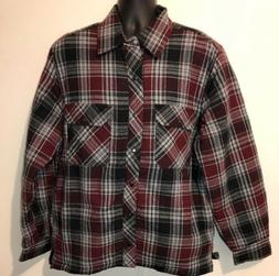 BC Clothing Men's Plaid Shirt Jacket With Quilted Lining New