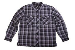 BC Clothing Men's Plaid Shirt Jacket With Quilted Lining 114