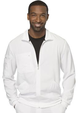 Cherokee Infinity Men's Scrub Zip Front Warm-up Jacket  in W